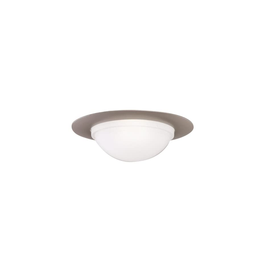 Halo 172SNS, 6 Trim Showerlight with Dome Lens and Reflector   Socket Supporting Wet Location & Air tite Listed Satin Nickel Trim with Frosted Glass Dome