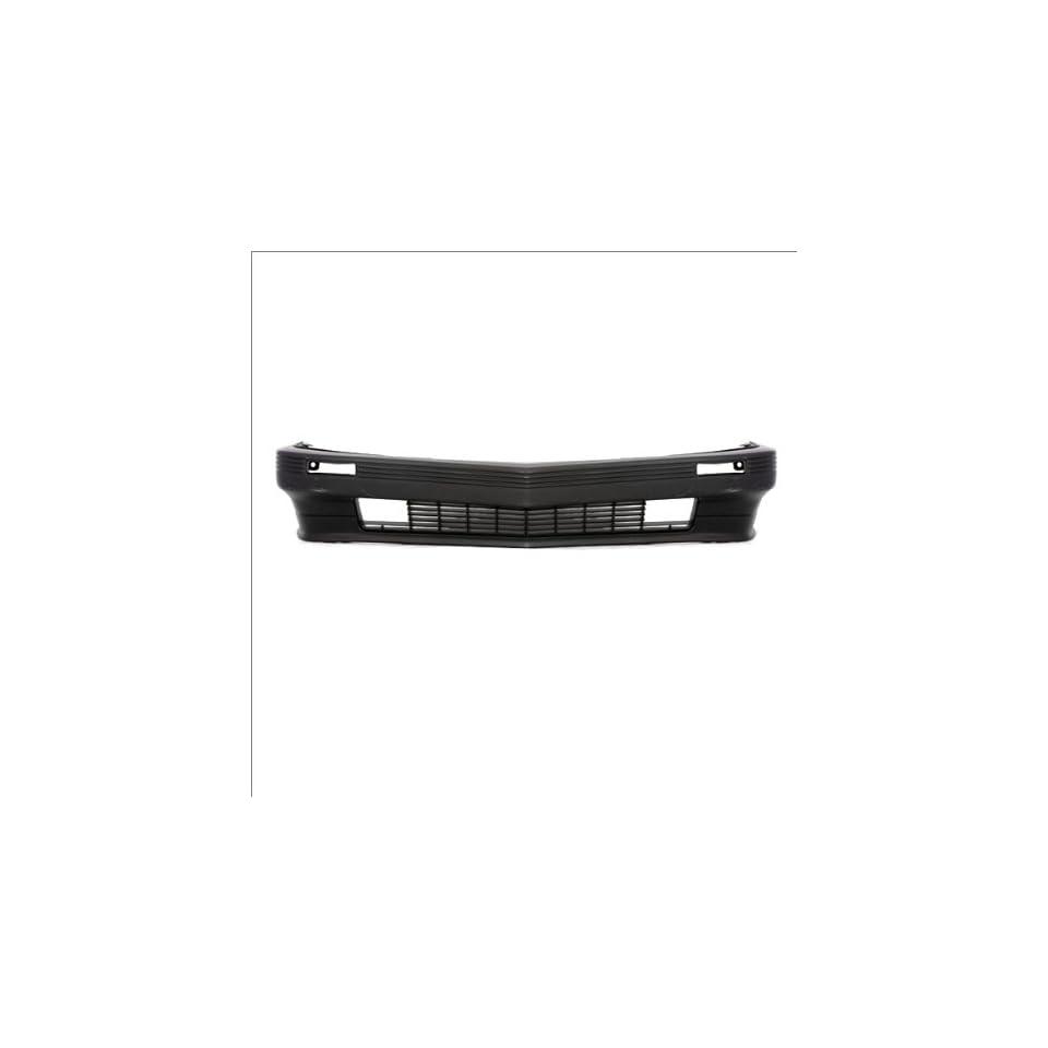 CarPartsDepot 352 371078 10 FRONT BUMPER PRIMERED BLACK FACIAL PLASTIC COVER GM1000104