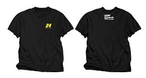 NASCAR Jeff Gordon #24 Black Cool Running Performance T-Shirt by Checkered Flag