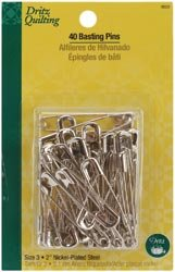 Dritz Quilting Basting Pins Size 3 40/Pkg 3022; 3 Items/Order