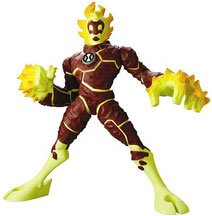 Picture of Bandai Ben 10 (Ten) Deluxe 12 Inch Alien Action Figure Heatblast (B000MDE7K4) (Ben 10 Action Figures)