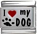 I Heart My Dog Red Heart Laser Italian Charm