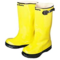 Rubber boots for working with concrete