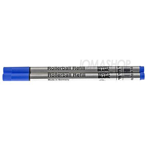 Montblanc Lot de 2 recharges pour stylo roller Bleu F
