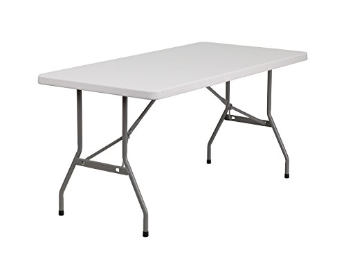 30''W X 60''L Blow Molded Plastic Folding Table [Rb-3060-Gg]