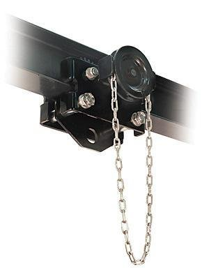 "CM CBT(G)-0300 Steel Manual Geared Trolley with Hook Mounted, 6000 lbs Capacity, 55"" Minimum Radius Curve"