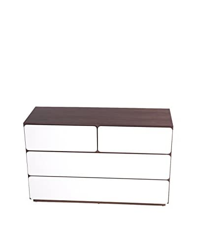 Control Brand The Mid Century Edlyn 4-Drawer Chest, White