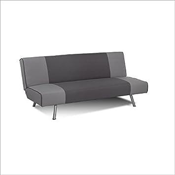 Serta Dream Convertibles Simeon Convertible Sofa in Retro Two Tone Grey