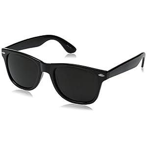 Vintage Retro Classic Polarized Lens Trendy Wayfarer Style Sunglasses - 80's Fashion - Mens or Womens - More Colors Available,Black