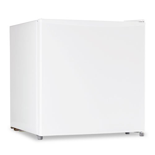 Sanyo Products - Sanyo - Compact Cube, 1.7 Cu. Ft. Office Refrigerator, Adjustable Thermostat Dial, White - Sold As 1 Each - Compact 1.7 cubic foot size. - Reversible door. - Adjustable thermostat dial. - Two leveling legs. -