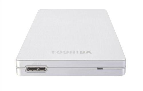 Toshiba PA4236E-1HE0 500GB Stor.E ALU2S USB 3.0 2.5 Inch External Hard Drive - Silver