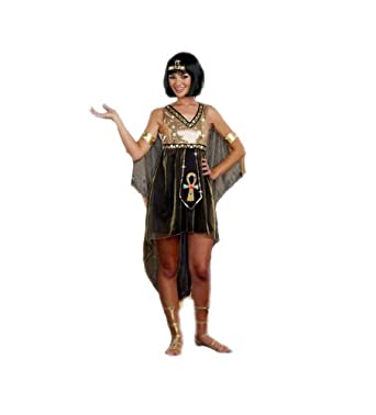 G2 Chic Women's Juniors Queen Cleopatra Costume(LNG-COS,GLD-S)