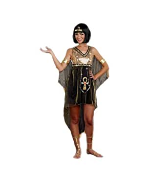 G2 Chic Women's Juniors Queen Cleopatra Costume(LNG-COS,GLD-XS)