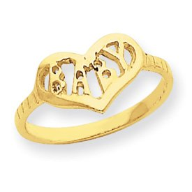 14k Diamond-Cut Baby Ring – Size 3 – JewelryWeb