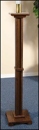 Wood Walnut Church Paschal Candleholder Candle Stand Easter 2