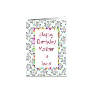 Amazon.com: Birthday-Mother-in-Law-Graphic Design Card: