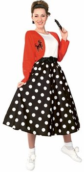 Adult 50's Poodle Halloween Costume (Size: Small 6-8)