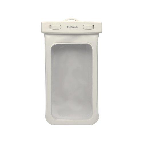 オウルテック iPhone6/6Plus Xperia GALAXY Note3も入る大きめサイズのスマートフォン用防水ケース 防水保護等級IPX8取得 OWL-MAWP03(WH)