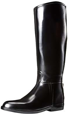 dav Women's Equestrian Rain Boot,Black,5 M US