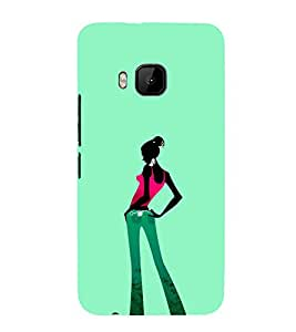iFasho Girl standing in fashion Back Case Cover for HTC One M9