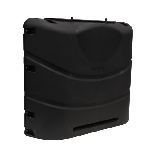 Camco 40539 Heavy-Duty 20lb or 30lb Dual Propane Tank Cover (Black)