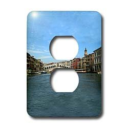 Vacation Spots - The Rialto Bridge Venezia Italy - Light Switch Covers - 2 plug outlet cover