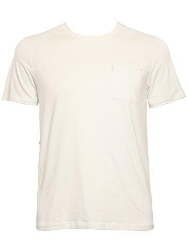 Aimer Men'S Elastic Fiber Design Short Sleeve T-Shirt Xxl White