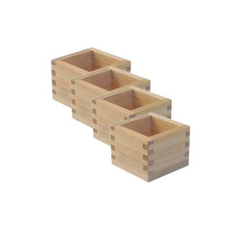 4 pack of Masu Wooden Sake Cups