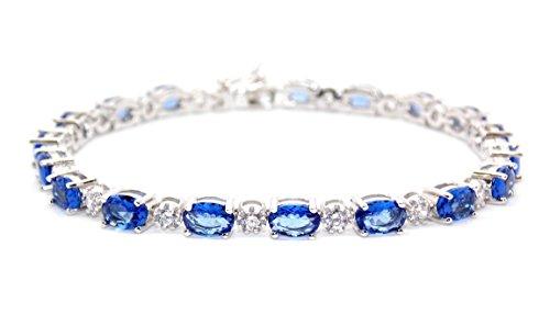 bracelet-riviere-en-argent-sterling-avec-tanzanites-et-diamants-786-carats