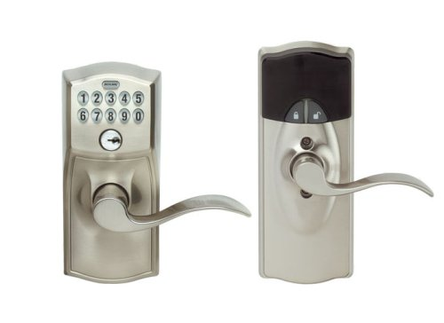 Images for Schlage LiNK Wireless Keypad Entry Lever Add-on Lock, Satin Nickel