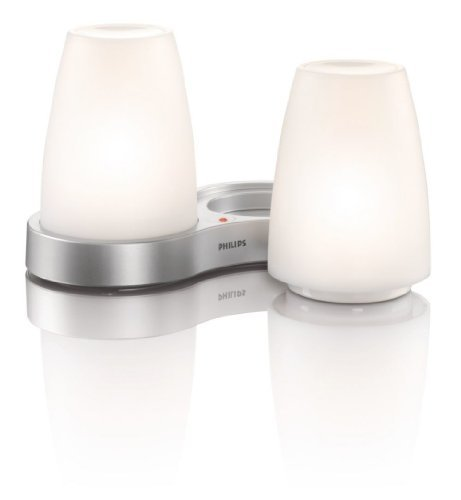 Philips 69110/60/48 Imageo Led Rechargeable Table Lights With Charging Plate, White Led Rechargeable Candle Lights Ideal For Use Indoors And Outdoors (Weatherproof) Provide Romantic Soft Glow Of Constant Light