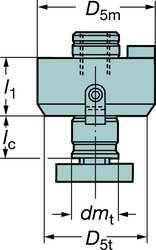 sandvik-coromant-a39105-19-50-020-varilock-to-arbor-adaptor-face-mill-adapter-0750-50-taper-side-cou