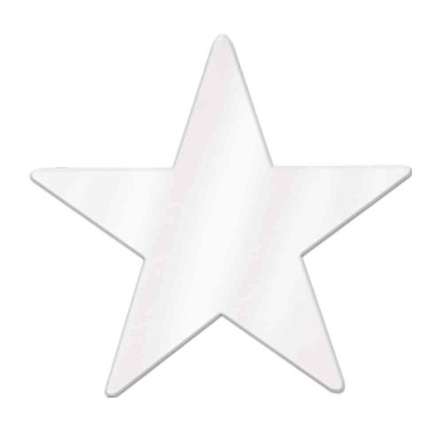 Jumbo Foil Star Cutout (white) Party Accessory  (1 count)