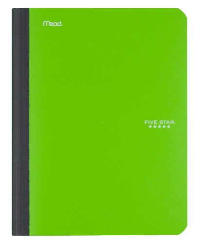043100091202 - Five Star Composition Book, College Ruled, 1 Subject, 7.5 x 9.75 Inches, 100 Sheets, Corner Tabs, Assorted Colors (09120) carousel main 3