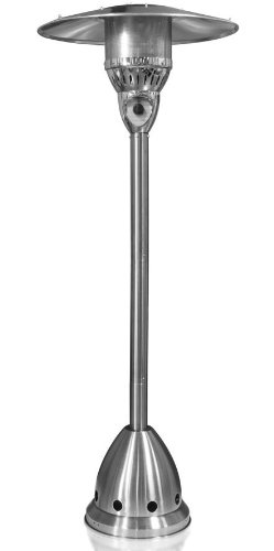 Garden Sun GS4150NGSS 41,000 BTU Floor Standing Natural Gas Powered Outdoor Patio Heater With Push Button Ignition - Stainless Steel