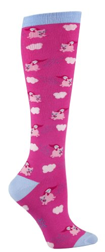 Sock It To Me Flying Pigs Pink Knee High Socks, One Size