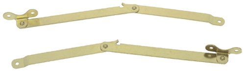 Stanley Hardware CD432 Folding Lid Support in Bright Brass