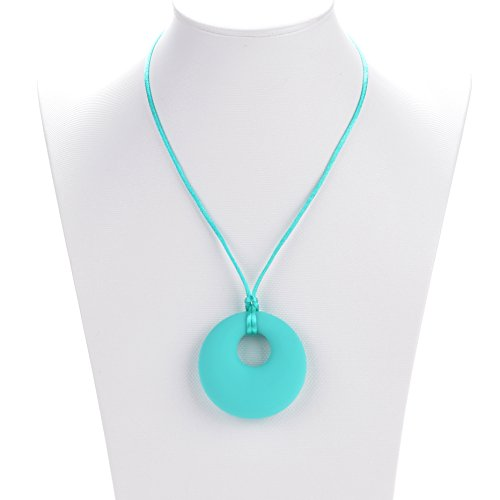 Consider It Maid Baby Teething Necklace, Nursing Teether For Mom, Lifetime Warranty! Better Than Baltic Amber, Silicone Beads For Easy Relief With No BPA. Best Value Chewbeads Toy For Infants (Turquoise)