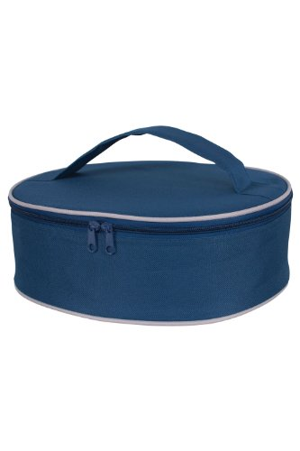 KAF Home Portable Insulated Pie Carrier, Navy Blue, 3.5 x 11.5 x 10.75-Inches (Pie Transporter compare prices)