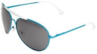 Quay Eyewear Australia 1492 Aviator Sunglasses Blue One Size