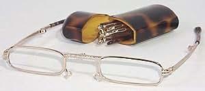 Mini Folding Glasses with Tortoise Shell casem, 1.25 Strength, by American Reading Glasses