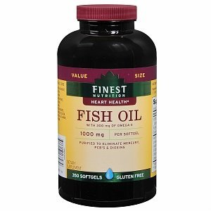 Finest nutrition fish oil 1000 mg softgels 350 for Cvs fish oil