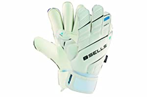 Sells Goalkeeper Products Wrap Elite Aqua Goalie Gloves, White, 8