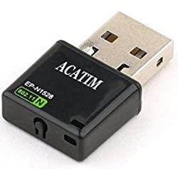 Acatim EP-N1528 Mini 300Mbps 802.11 USB Wi Fi wireless Wifi dongles Lan Card Adapter, Nano Size Ideal for Raspberry Pi, Supports Win, Mac OS, Linux
