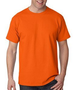 Hanes Authentic Tagless T-Shirt, Orange
