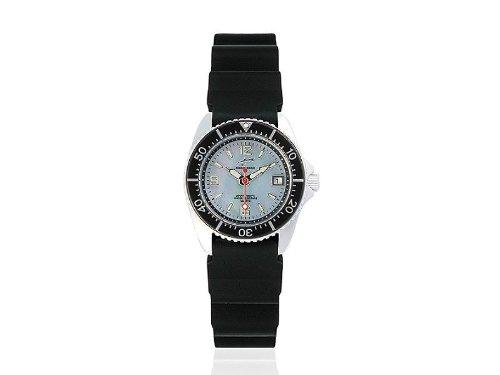 Chris Benz CBL.H.KB.SW - Reloj analógico de cuarzo para mujer con correa de caucho, color negro