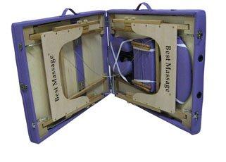 "77"" L 3"" Pad Purple PU Reiki Portable Massage Table D3"