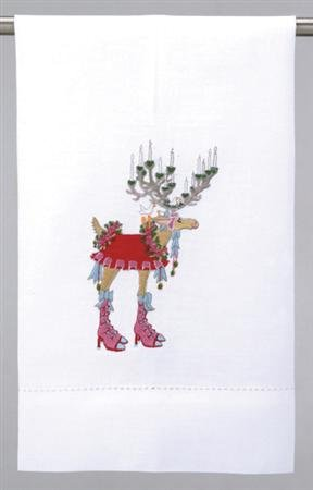 Patience Brewster Dashaway Donna Tea Towel - Krinkles Christmas Décor New 08-30488