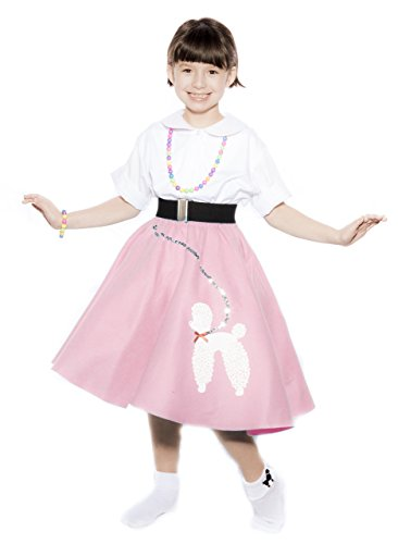 50s Felt Poodle Skirt in Retro Colors size Child / Preteen by Hey Viv ! - Pink (Grease Inspired Dress compare prices)