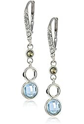 "Judith Jack ""Caribbean Breeze"" Sterling Silver Swarovski Marcasite and Cubic Zirconia Drop Earrings"